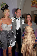 BODIL BLAIN; HARRY BLAIN; TRACEY EMIN, The Surrealist Ball in aid of the NSPCC. Hosted by Lucy Yeomans and Harry Blain. Banqueting House. Whitehall. 17 March 2011. -DO NOT ARCHIVE-© Copyright Photograph by Dafydd Jones. 248 Clapham Rd. London SW9 0PZ. Tel 0207 820 0771. www.dafjones.com.