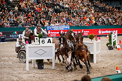 De Ronde Koos, NED, Bonusz, Chiron, Zamoro, Tommy<br /> FEI World Cup Driving - First Round<br /> Leipzig - Partner Pferd 2018<br /> © Hippo Foto - Stefan Lafrentz