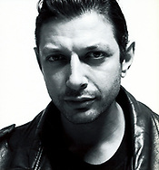 Jeff Goldblum for Vogue Hommes. Photographed in Paris at PinUP Studios, Paris, France. Black & White Tri-X at 400 ISO<br /> MakeUp and Hair by Mariette Wenden for Carole Spooner. Style Editor: Melissa Moore<br /> Art Director: Christian Ravera