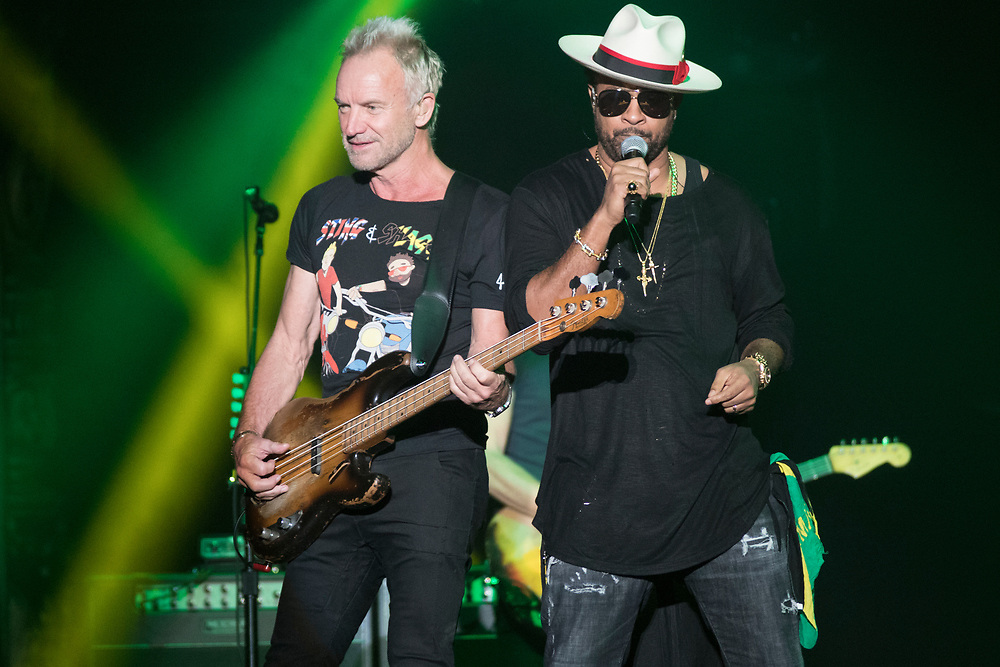Sting and Shaggy perform at Chicago's historic Aragon Ballroom on October 2, 2018.