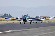 Navions taxiing at Airshow of the Cascades