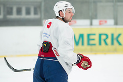 Matic Podlipnik during practice session of Slovenian Ice Hockey National Team for IIHF World Championship in Sweden and Finland, on March 28, 2013, in Arena Zlato Polje, Kranj, Slovenia. (Photo by Vid Ponikvar / Sportida.com)