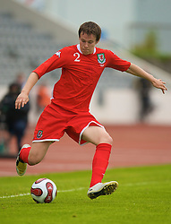 REYKJAVIK, ICELAND - Wednesday, May 28, 2008: Wales' Chris Gunter in action against Iceland during the international friendly match at the Laugardalsvollur Stadium. (Photo by David Rawcliffe/Propaganda)