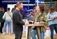 Emma Willis at the Big Feastival 2021 on Alex James' Cotswolds farm, Kingham  oxfordshire