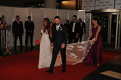 June 30, 2017 - Buenos Aires, Buenos Aires, Argentina - Lionel Messi and his wife, long time sweetheart Antonella Roccuzzo, meet the press after their wedding ceremony.The ceremony and party had over 250 guests that included his fellow Barcelona F.C. players, pop star Shakira, family and childhood friends. (Credit Image: © Patricio Murphy via ZUMA Wire)