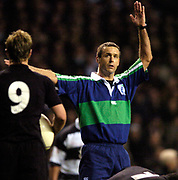 Twickenham, Surrey, 4th December 2004, The Gartmore Challenge Rugby Cup,  Barbarians vs New Zealand, RFU Stadium, England,<br /> South African  referee, Andy Turner,<br /> <br /> [Mandatory Credit; Peter Spurrier/Intersport Images]