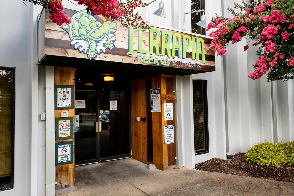 Entrance to the Terrapin Beer Co. in Athens, Georgia on Tuesday, July 13, 2021. Copyright 2021 Jason Barnette