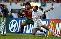Fotball<br /> Euro 2004<br /> Portugal<br /> 30. juni 2004<br /> Foto: Pro Shots/Digitalsport<br /> NORWAY ONLY<br /> Semifinale<br /> Portugal v Nederland 2-1<br /> Luis Figo og Michael Reiziger