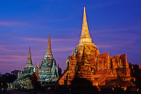 Thailande, province de Phra Nakhon Si Ayutthaya, Ayutthaya, Parc Historique, Wat Phra Si Sanphet // Thailand, Ayutthaya, Ayutthaya Historical Park, Wat Phra Si Sanphet
