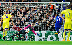 Jasmin Handanovic of Maribor during football match between Chelsea FC and NK Maribor, SLO in Group G of Group Stage of UEFA Champions League 2014/15, on October 21, 2014 in Stamford Bridge Stadium, London, Great Britain. Photo by Vid Ponikvar / Sportida.com