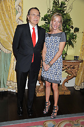 Ambassador EARLE MACK with his wife CAROL MACK at Ambassador Earle Mack's 60's reunion party held at The Ritz Hotel, London on 18th June 2012.