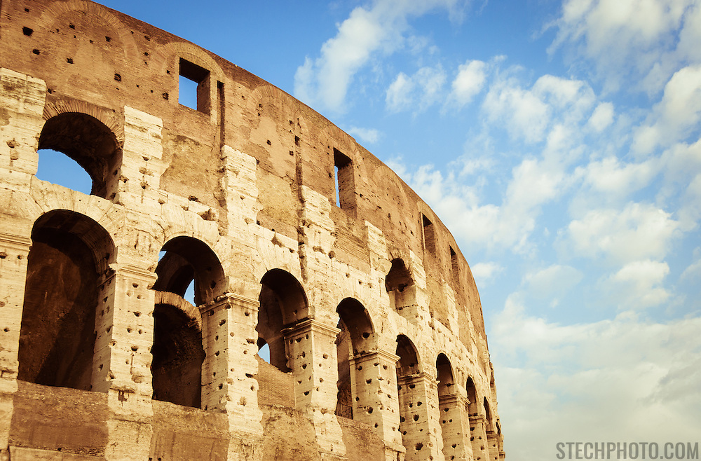 The Coliseum (or Colosseum) in Rome, Italy.