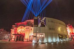 My Light Shines On, Edinburgh International Festival, Edinburgh 07 August 2020; Lights are shone into the sky across the city to celebrate Edinburgh International Festival 2020<br /> <br /> Dave Cullen; EEm 7 Auguust 2020