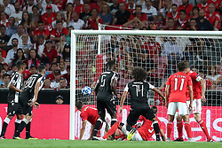 August 21, 2018 - Lisbon, Portugal - PAOK's midfielder Amr Warda (74) from Egypt shoots to score during the UEFA Champions League play-off first leg match SL Benfica vs PAOK FC at the Luz Stadium in Lisbon, Portugal on August 21, 2018. (Credit Image: © Pedro Fiuza via ZUMA Wire)