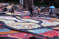 November 19, 2018 - Chongqin, Chongqin, China - Chongqing, CHINA-The colorful ceramic tiles form 'terraced fields' at Sichuan Fine Arts Institute in southwest China's Chongqing. (Credit Image: © SIPA Asia via ZUMA Wire)
