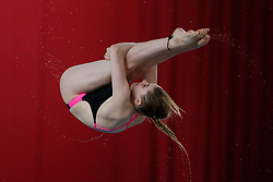 Katherine Torrance of City of Leeds Diving Club competes in the Womens 3m Springboard Preliminary - Photo mandatory by-line: Rogan Thomson/JMP - 07966 386802 - 22/02/2015 - SPORT - DIVING - Plymouth Life Centre, England - Day 3 - British Gas Diving Championships 2015.