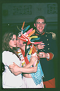 Nenna Eberstadt & Geordie Greig, Piers Gaveston Ball. Oxford Town Hall. Oxford. 1981<br />
