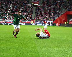 November 13, 2017 - Gdansk, Poland - Maciej Rybus, Miguel Layun during the international friendly soccer match between Poland and Mexico at the Energa Stadium in Gdansk, Poland on 13 November 2017  (Credit Image: © Mateusz Wlodarczyk/NurPhoto via ZUMA Press)