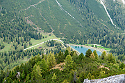 Alpine Landscape Photographed at the Schlick 2000 ski centre, Stubai, Tyrol, Austria in September