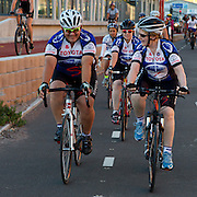 Cape Town, 4th February, 2012 – Western Cape Premier, Helen Zille, who is participating in the Institute for Drug-Free Sport's I Play Fair team cycling in the 2012 Cape Argus Pick n Pay Cycle Tour, led a training cycle ride today in preparation for the event to spread the message of ethics, fair-play and anti-doping in sport...The Premier and one hundred cyclists completed a training ride from Cycle Lab in Buitengracht Street to the beginning of the new cycle lane in Culemborg, then to Woodbridge Island and back to the starting point.