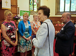 ** Exclusive **<br /> <br /> Princess Royal visits Kirk of Calder, Thursday 25th May 2017<br /> <br /> The Princess Royal visited Kirk of Calder in Mid Calder, Livingston today to accept a cheque on behalf of The Vine Trust.<br /> <br /> The Princess Royal meets members of the organising committee<br /> <br /> £85,500 has been raised by members and organisations of the kirk to help fund an orphanage in Tanzania.<br /> <br /> There was an increased police presence due to the recent Manchester bombing.<br /> <br /> (c) Alex Todd | Edinburgh Elite media