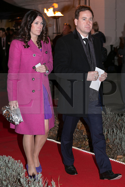 © licensed to London News Pictures. London, UK 06/12/2012. Dominic Mohan (right) attending The Sun Military Awards at Imperial War Museum with his wife. Photo credit: Tolga Akmen/LNP