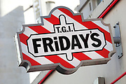 Sign for food and bar chain TGI Friday's.