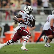 South Carolina Gamecocks wide receiver Bruce Ellington (23) runs during an NCAA football game between the South Carolina Gamecocks and the Central Florida Knights at Bright House Networks Stadium on Saturday, September 28, 2013 in Orlando, Florida. (AP Photo/Alex Menendez)