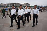 Young soldiers in charge of keeping discipline in Tiananmen square<br /><br />The well known square at Beijing's historic centre, with the Chairman Mao memorial hall, and entrance to the forbidden city nearby. For us, memories of the massacre at Tiananman square, for the Chinese a place to go and pay hommage to Chairmam Mao. Beijing, China