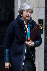 © Licensed to London News Pictures. 13/03/2018. London, UK. Prime Minister Theresa May leaves 10 Downing Street ahead of the Spring Statement. Photo credit: Rob Pinney/LNP