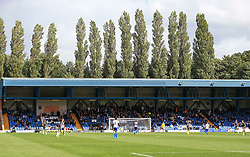 Bristol Rovers fans watch from the stand at Gigg Lane - Mandatory by-line: Matt McNulty/JMP - 19/08/2017 - FOOTBALL - Gigg Lane - Bury, England - Bury v Bristol Rovers - Sky Bet League One