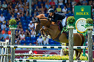 Kevin STAUT (FRA) riding Reveur de Hurtebise during the World Equestrian Festival, CHIO of Aachen 2018, on July 13th to 22th, 2018 at Aachen - Aix la Chapelle, Germany - Photo Thomas Reiner / SpainProSportsImages / DPPI / ProSportsImages / DPPI