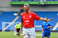 Alan Davies of England over 60's during the world's first Walking Football International match between England and Italy at the American Express Community Stadium, Brighton and Hove, England on 13 May 2018. Picture by Graham Hunt.