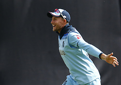 May 30, 2019 - London, England, United Kingdom - Joe Root of England celebrate the catch of Aiden Markram of South Africa by Moeen Ali of England and bowled by \en95.during ICC Cricket World Cup Match 1 between England and South Africa at the Oval Stadium , London,  on 30 May 2019. (Credit Image: © Action Foto Sport/NurPhoto via ZUMA Press)