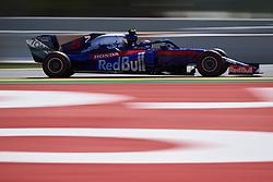 May 11, 2019 - Barcelona, Catalonia, Spain - Alexander Albon of Thailand driving the (23) Red Bull Toro Rosso Honda STR14 during qualifying for the F1 Grand Prix of Spain at Circuit de Barcelona-Catalunya on May 11, 2019 in Barcelona, Spain. (Credit Image: © Jose Breton/NurPhoto via ZUMA Press)