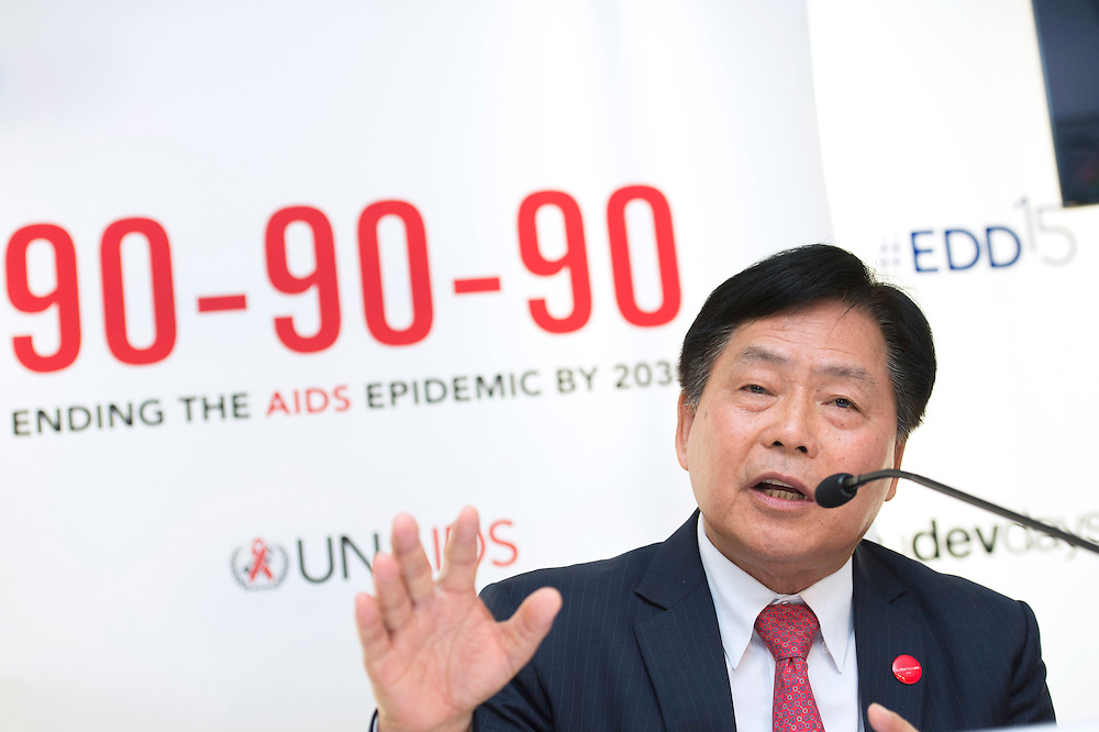 03 June 2015 - Belgium - Brussels - European Development Days - EDD - Health - 90-90-90 - An ambitious treatment target to help end the AIDS epidemic - Bounkong Syhavong<br /> Vice-Minister of Health, Lao People's Democratic Republic © European Union