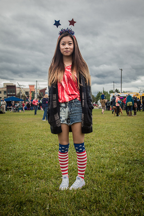 Muhua Fang at the Fourth of July celebration, Anchorage