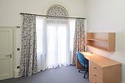 Bannister Building bedroom after renovation. Pembroke College, New Build on completion March 2013. Oxford, UK