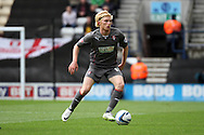 Rotherham United's Ben Pringle in action. Skybet football league one play off semi final, 1st leg match, Preston North End v Rotherham United at the Deepdale Stadium in Preston, England on Saturday 10th May 2014.<br /> pic by Chris Stading, Andrew Orchard sports photography.