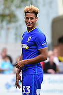 AFC Wimbledon Forward Lyle Taylor (33) during the Pre-Season Friendly match between AFC Wimbledon and Watford at the Cherry Red Records Stadium, Kingston, England on 15 July 2017. Photo by Jon Bromley.