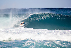 December 16, 2018 - Pupukea, Hawaii, U.S. - Wade Carmichael of Australia advances to round 3 after placing first in round 2 heat 3 of the Billabong Pipe Masters.<br />  (Credit Image: © Tony Heff/WSL via ZUMA Wire)