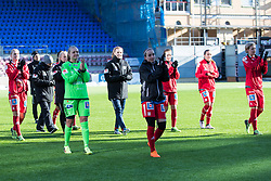 March 17, 2018 - Eskilstuna, SVERIGE - 180317 Jubel i LinkÅ¡ping efter 1-2 vinst i semifinalen i Svenska Cupen  mellan Eskilstuna United och LinkÅ¡ping den 17 mars i Eskilstuna  (Credit Image: © Per Karlsson/Bildbyran via ZUMA Press)