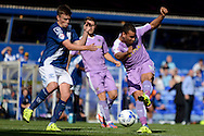 Hal Robson-Kanu gets a shot in during the Sky Bet Championship match between Birmingham City and Reading at St Andrews, Birmingham, England on 8 August 2015. Photo by Alan Franklin.