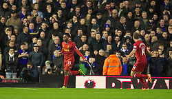 28.01.2014, Anfield, Liverpool, ENG, Premier League, FC Liverpool vs FC Everton, 23. Runde, im Bild Liverpool's Daniel Sturridge celebrates scoring the second goal against Everton // during the English Premier League 23th round match between Liverpool FC and Everton FC at Anfield in Liverpool, Great Britain on 2014/01/29. EXPA Pictures © 2014, PhotoCredit: EXPA/ Propagandaphoto/ David Rawcliffe<br /> <br /> *****ATTENTION - OUT of ENG, GBR*****