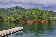 Dock at Whiskeytown Lake, Whiskeytown National Recreation Area, Shasta - Trinity National Forest, Shasta County, California