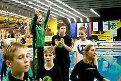 Martin Kovacic, Fers Anze, Tilen Zupancic, Timotej Masten, Tobija Ponikvar, Timotej Zupancic and Andraz Omahen of PK Ilirija at Winter National Swimming championships of Slovenia for U11, on February 7, 2010 in Bazen Tivoli, Ljubljana, Slovenija. (Photo by Vid Ponikvar / Sportida)