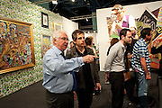 TONY SHAFRAZI; BEN STILLER, Vernissage. Opening of Art Basel Miami Beach. Convention Centre.  Miami Beach. 30 November 2010. -DO NOT ARCHIVE-© Copyright Photograph by Dafydd Jones. 248 Clapham Rd. London SW9 0PZ. Tel 0207 820 0771. www.dafjones.com.