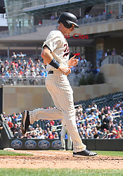 May 2, 2018 - Minneapolis, MN, U.S. - MINNEAPOLIS, MN - MAY 02: Minnesota Twins Outfield Max Kepler (26) crosses home plate during a MLB game between the Minnesota Twins and Toronto Blue Jays on May 2, 2018 at Target Field in Minneapolis, MN.The Twins defeated the Blue Jays 4-0.(Photo by Nick Wosika/Icon Sportswire) (Credit Image: © Nick Wosika/Icon SMI via ZUMA Press)