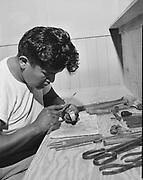 "0301-466B. ""Kachina Lodge July 1954""  Herbert Quimayousie (also spelled ""Herbert Komayouse"") (December 8, 1922 - September 27, 1994. born and died in Hotevilla, Apache, Arizona)."