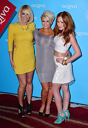 Arqiva Commercial Radio Awards<br /> (L-R) Liz McClarnon, Kerry Kotana and Natasha Hamilton during the annual awards show recognising achievement by marketing, programming and on-air sales sectors in the commercial radio industry. Westminster Bridge<br /> London, United Kingdom<br /> Wednesday, 3rd July 2013<br /> Picture by Nils Jorgensen / i-Images